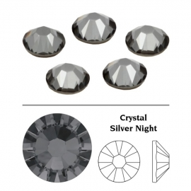 123 - Strass SWAROVSKI SS12 Crystal Silver night