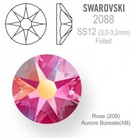 148 - Strass SWAROVSKI SS12 Rose Aurore Boreale