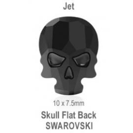 Skull flat Back Jet (1 pcs)